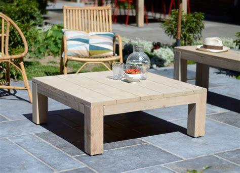 fly table de jardin table basse de salon ou de jardin en bois brut riviera vue 224 l ext 233 rieur id 233 es d 233 co