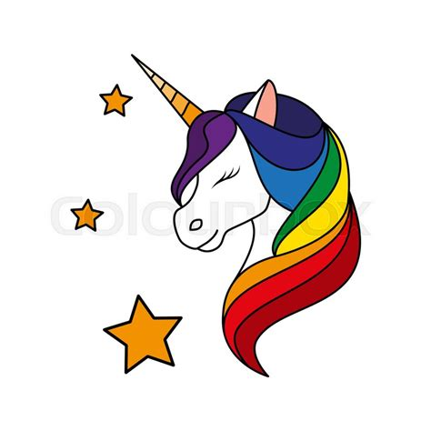 unicorn with rainbow mane fashion patch badges sticker