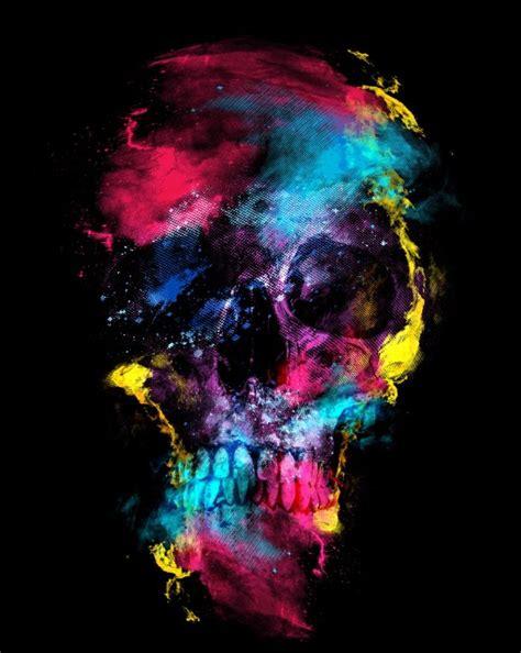 Skull Space skull space print skull space digital wall