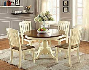 cottage style dining set furniture of america pauline 5 cottage