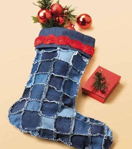 imagenes de navidad vaqueras 10 botas navide 241 as recicladas con tela de vaqueros paperblog
