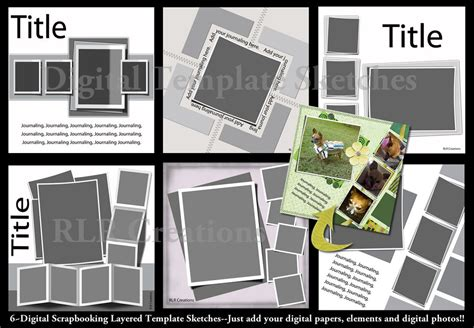 photoshop elements layout templates lifted layers digital scrapbooking psd layered templates