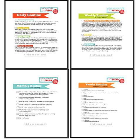 printable daily weekly monthly cleaning schedule how to clean your house 4 cleaning schedules to print