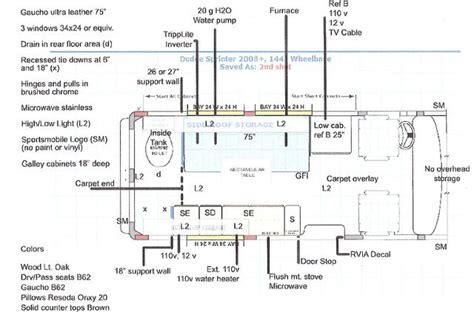 conversion van floor plans sprinter van cer conversions floor plans van inside