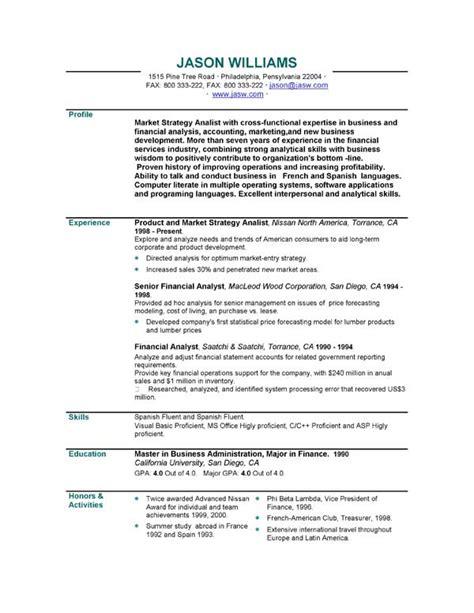 resume read write think