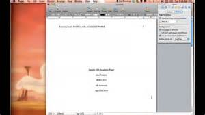 how to set up an apa paper in pages