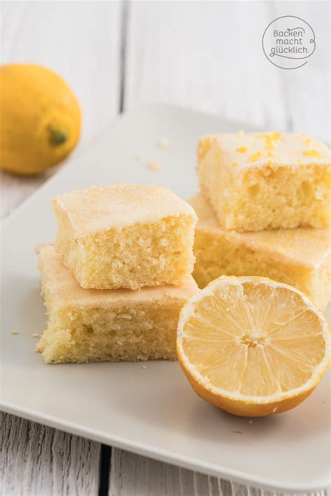 zitronen kuchen rezept saftiger zitronenkuchen vom blech backen macht gl 252 cklich