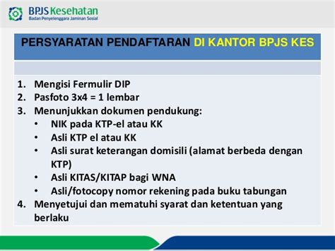 syarat daftar menjadi peserta bpjs kesehatan mandiri