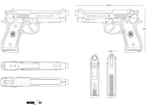 3d gun image 3d floor plans beretta 92fs blueprint download free blueprint for 3d