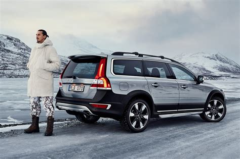 volvo cars travels   familiar road  coming  cross country
