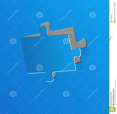 How To Make A Puzzle Out Of Paper - cut out puzzle blue paper stock photo image 30079670