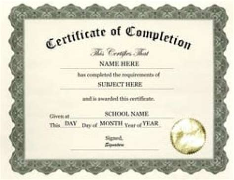 7 Free Certificate Of Completion Templated Excel Pdf Formats Certificate Of Completion Template Free