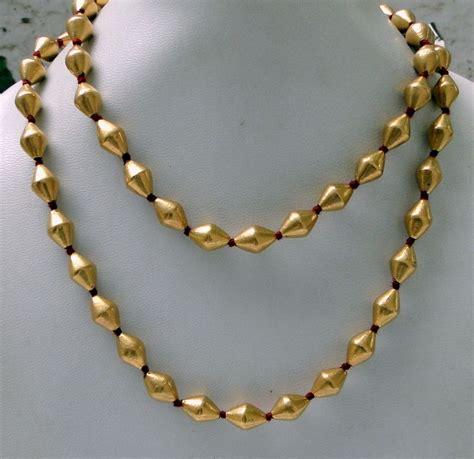 22k gold necklace strand vintage antique