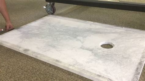 Sealing a Solid Marble Shower Floor   YouTube