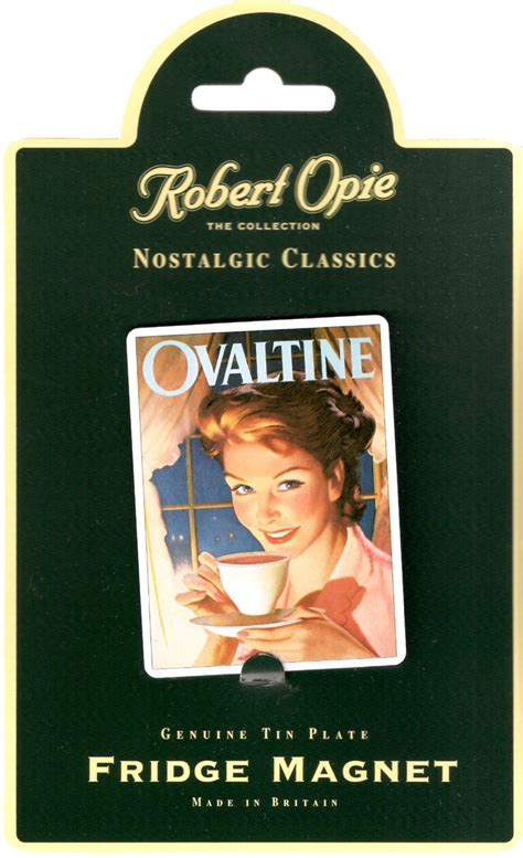Magnet Kulkas Miniatur Ovaltine 3 In 1 ovaltine advertisement robert opie collectible tin metal fridge magnet