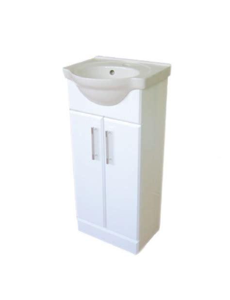 floor standing mirrored bathroom cabinet mod 45 white floor standing 450mm vanity unit ceramic basin