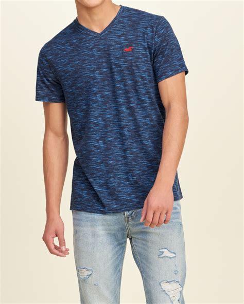 V Neck T Shirt Hollister hollister must v neck t shirt in blue for lyst