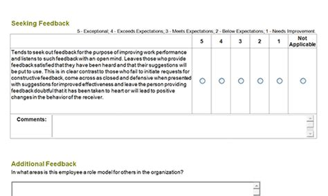 360 performance evaluation template 360 degree feedback forms au toolkit