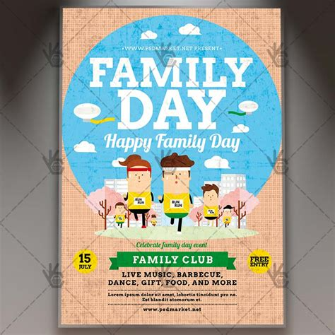 family flyer template family day premium flyer psd template psdmarket