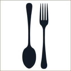 fork amp spoon silverware wall decal