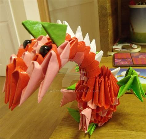 3d Origami Strawberry - 3d origami strawberry by warriorcat on deviantart