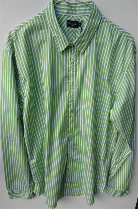 Stripes Shirt B L F paul smith sleeve green stripe shirt size l p2p