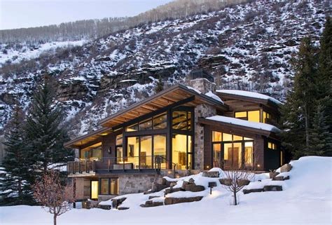 luxury mountain homes colorado exterior rustic with