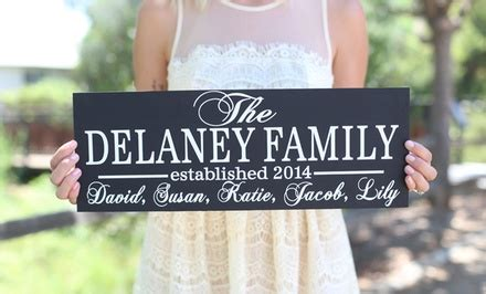 groupon morgann hill design personalized family signs morgann hill designs groupon