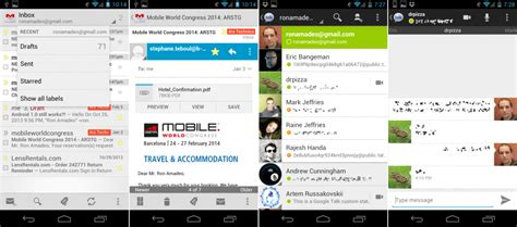 gmail chat themes the updated history of android ars technica