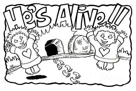 easter coloring pages jesus is alive free jesus has risen coloring pages