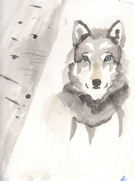 watercolor wolf tutorial 122 best howl with me images on pinterest