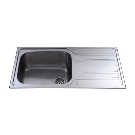 large single sink ka71ss stainless steel large single bowl sink cda