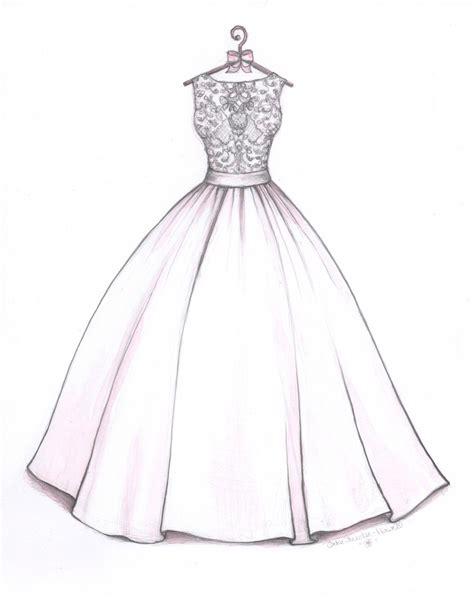 pattern drawing dress ball gown wedding dress sketch by catie stricker howell