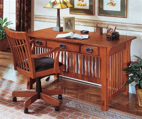 mission style writing desk oak office desk benefits for home office