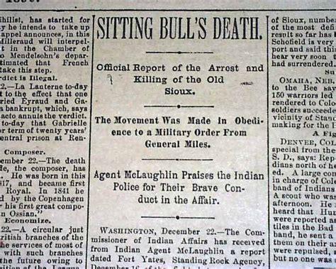 sitting bull of chief sitting bull 1890 rarenewspapers