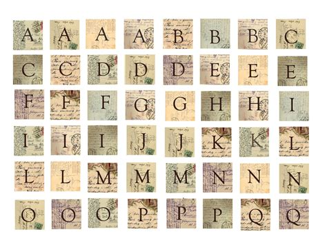 printable scrabble tiles collage sheet how to make vintage postcard