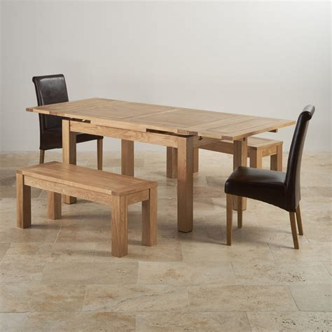 table with two benches dorset extending dining set in oak table benches chairs