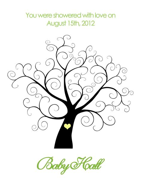 tree template for baby shower printable baby shower thumbprint tree personalized 14