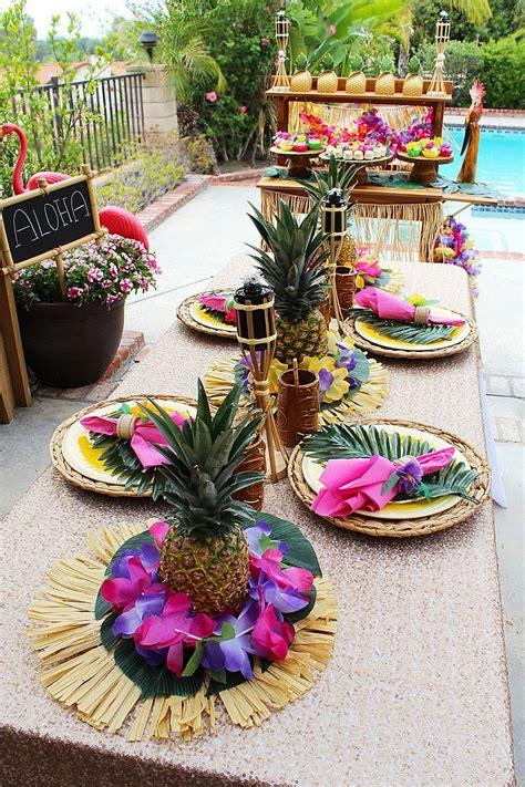 diy pineapple centerpieces luau centerpieces
