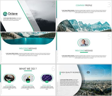 Octave Free Powerpoint Presentation Template Powerpoint Templates Just Free Slides Powerpoint Templats