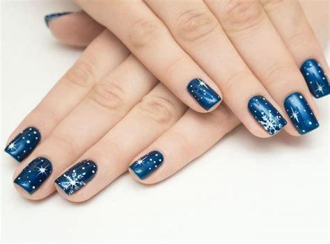 Deco Ongle Bleu by Ongles Bleu Nuit Noel