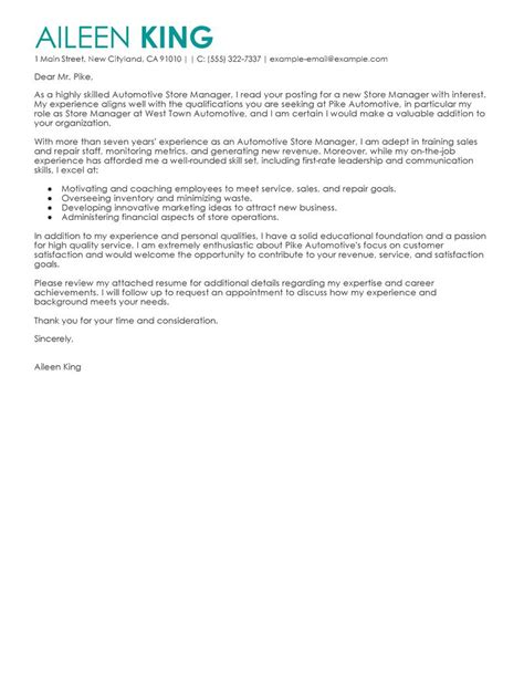 Mac Administrator Cover Letter by Leading Professional Store Manager Cover Letter Exles Resources Myperfectcoverletter
