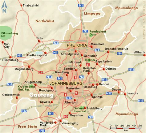 africa map johannesburg where is gauteng in map of south africa my