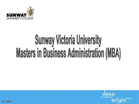 Sunway Mba by Sunway College