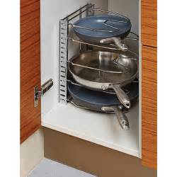 Kitchen Cabinets Organizer Ideas chrome cookware organizer the container store