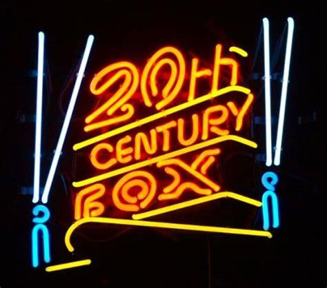 Lu Neon 20 Watt enseigne lumineuse n 233 on 20th century fox 55 x 55 cm