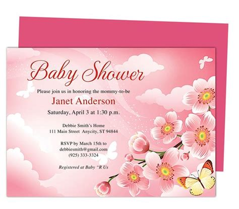 publisher templates for baby shower baby shower invitations templates butterfly kisses shower