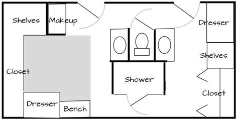 bathroom laundry hers 17 best images about bathroom floor plans on pinterest
