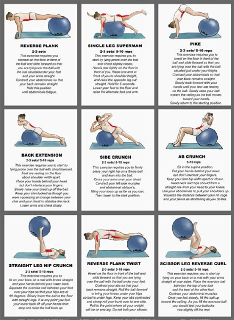 printable exercise ball routines share