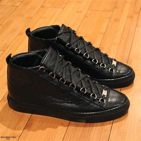 balenciaga sneakers mens balenciaga arena shoes in black leather